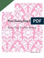Marci Shumway Baby Registry