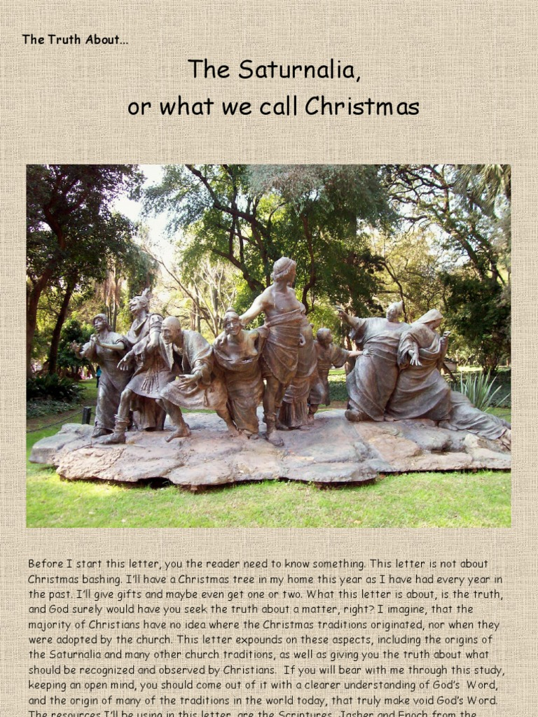 The Truth About...The Saturnalia, or what we call Christmas. | Adam ...