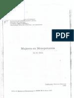 Stol, M-Mujeres en Mesopotamia