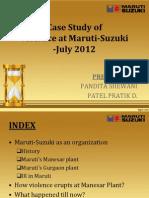 Maruti Manesar-Violence July 2012
