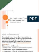 El Perú en el Contexto Latinoamericano y Mundial - DEFINICIONES