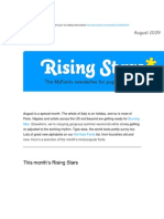 Rising Stars August 2009