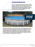Round Pool Instructions