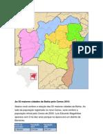 Municípios e regiões da Bahia