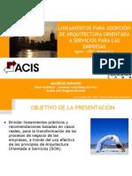 GUIA - SOA - Lineamientos Para Adopcion de Arquitectura SOA en Las Empresas