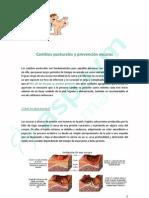 Cambios posturales y prevención escaras