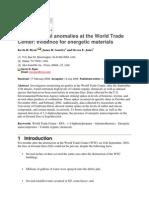 Environmental anomalies at the World Trade Center