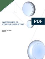 Investigacion de HTML,Xhtml,XML,Html5