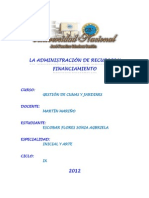 LA ADMINISTRACIÓN DE RECURSOS Y FINANCIAMIENTO (1)