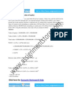 Accounts Solution for Value of Equity