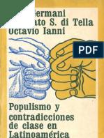 Populismo y Contradicciones de Clase - Gino Germani, Torcuato di Tella, Octavio Ianni