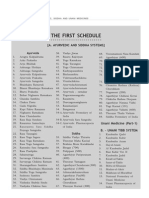 First Schedule-Drug&Cosmetics Act