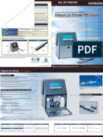 Hitachi PB Series Continuous Inkjet Printers - Brochure