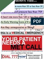 Wellington MET Call Poster