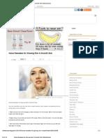 Home Remedies for Glowing Skin & Smooth Skin _ InfoLinkZone