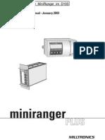 Milltronics LevelMonitor MiniRanger Im D103