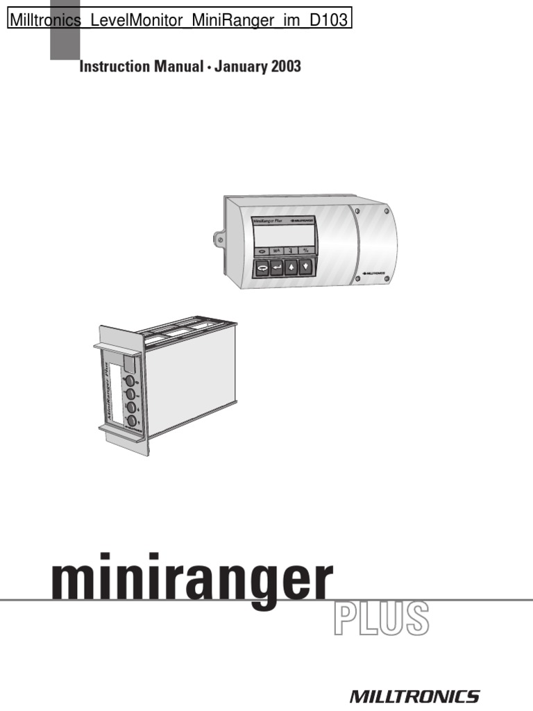Milltronics LevelMonitor MiniRanger Im D103 | Electrical Connector | Relay