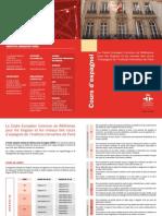 Les niveaux des cours d'espagnol de l'Instituto Cervantes de Paris et le Cadre européen comun de référence pour les langues