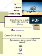 The Importance of Green Marketing Last Version