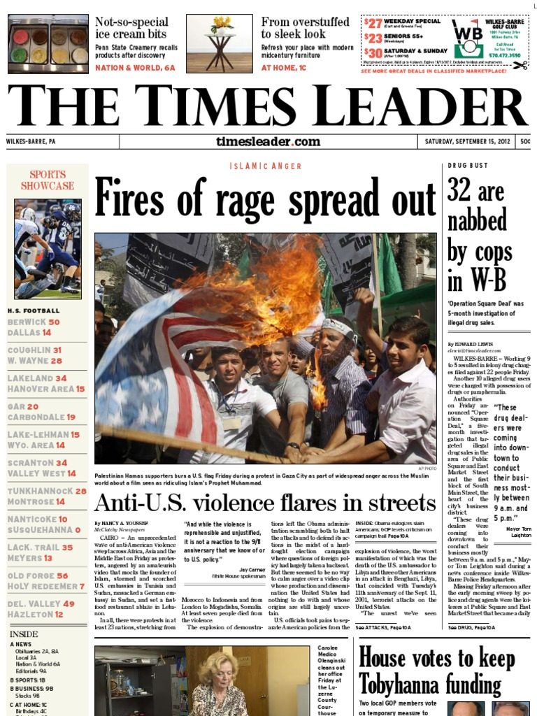 Times Leader 09-15-2012 | Driving Under The Influence | Mega
