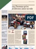 """""""Sarkozy, l'homme qu'on aimait détester, laisse un vide"""", Benjamin Everaert, L'Echo, 15 septembre 2012"""