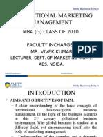 18926113 International Marketing Ppt Vivek Kumar