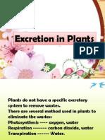 Excretion of Plant