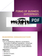 Forms of Business Enterprises