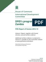 DFID's Programme in Zambia - Volume 1