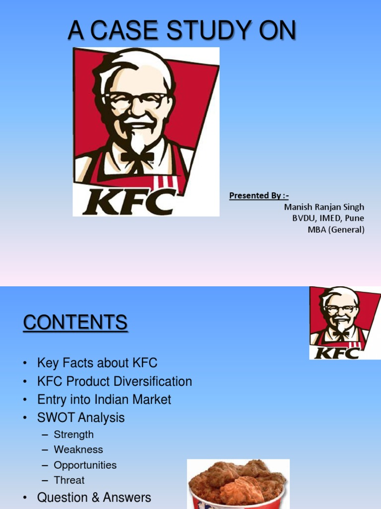 A Case Study on KFC | Market Segmentation | Cuisine