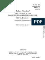 Is-952 Fognozzle for Fire Brigade Use
