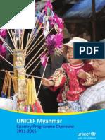 UNICEF Myanmar CP Booklet 2011 Eng