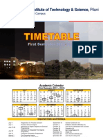 Timetable Ist Sem 2012-13