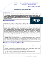 All India Weather Bulletin - September 14, 2012