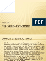 Article VIII the Judicial Department