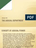 Article VIII the Judicial Department