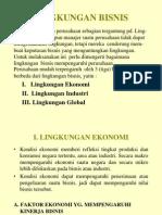 Lingkungan Ekonomi Dan Lingkungan Industri