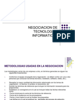 negociación de tecnologías informaticas