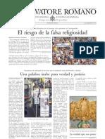 L´OSSERVATORE ROMANO. 09 Septiembre 2012