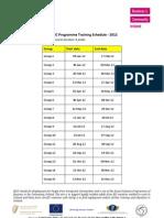 EPIC Training Schedule 2012