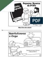 Bartolomeu o Cego - Livro Para Colorir