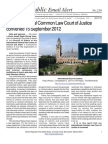239 - The International Common Law Court of Justice Convened 15 September 2012