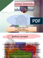 Tugas UTS Statistika 'Presentasi Variabel Penelitian'