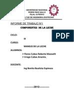 COMPONENTES MENORES DE LA LECHE