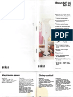 Braun MR30 Hand Blender Recipe Guide