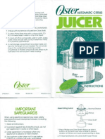 Oster Citrus Juicer Instructions