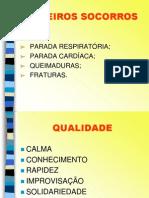 PRIMEIROS SOCORROS - NM ENGENHARIA  -  apresentação PowerPoi