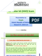 Presentation on Car Water Kit (HHO) Scam