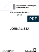 Prova de Jornalismo - Valec 2012