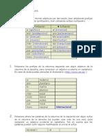 FORMACIÓN DE ADJETIVOS